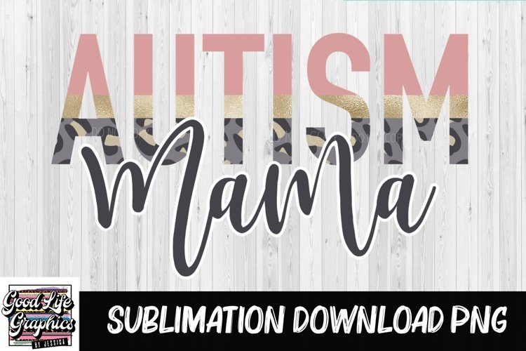 Sublimation Designs for t shirts-Autism mama example image 1