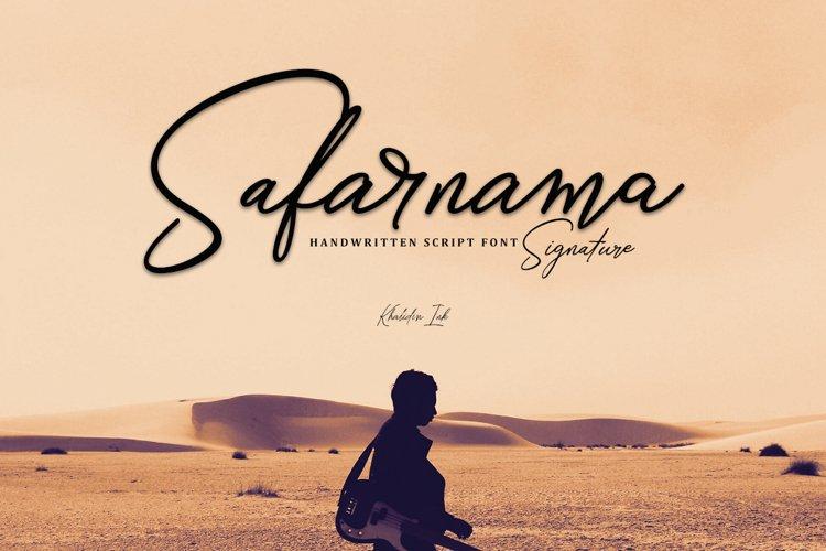 Safarnama Signature example image 1