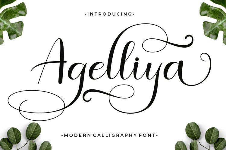 Agelliya Script example image 1