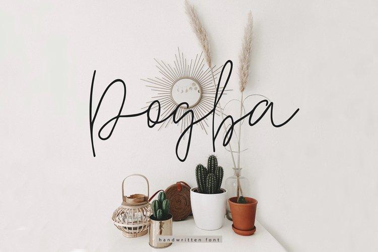 Pogba    Multilingual Handwritten Script Font