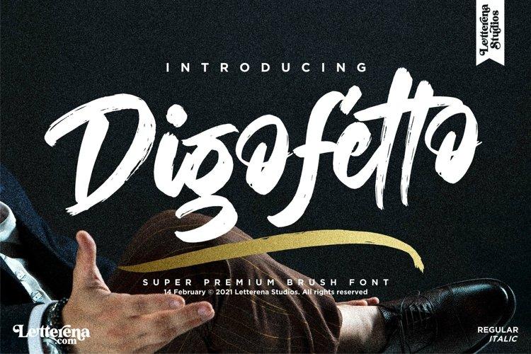 Digofetto - Strong Brush Font example image 1
