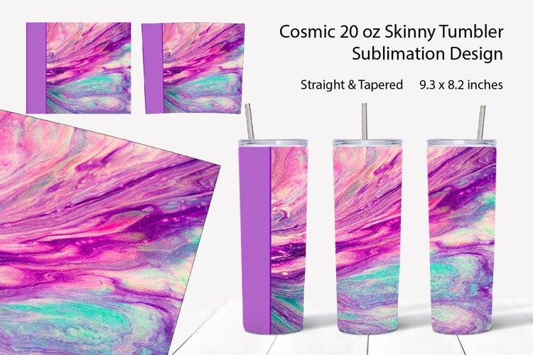 20oz Skinny Tumbler full wrap sublimation Abstract fluid art