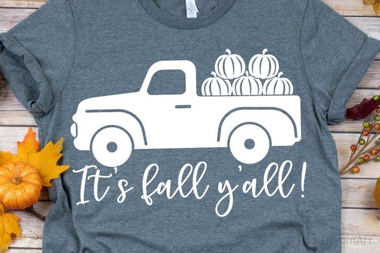 Its Fall Yall SVG, DXF, PNG, EPS example image 1