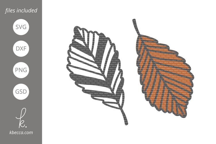 Fall Leaf #1 SVG Cut Files example image 1