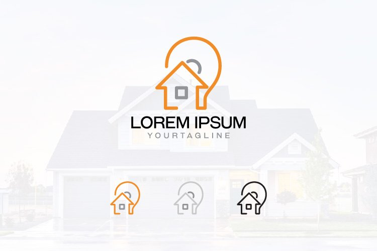 Creative Housing Idea Architectural Real Estate Line Logo example image 1