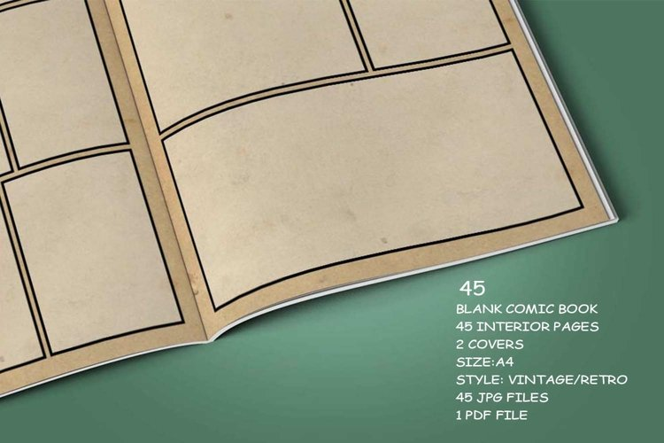 Blank Comic Book Interior Pages & Covers JPG-PDF-PSD-PNG example 4