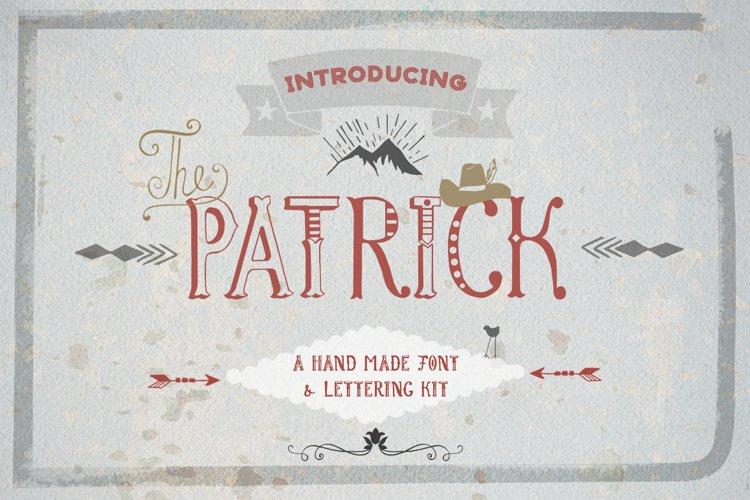 Patrick font & Lettering Kit