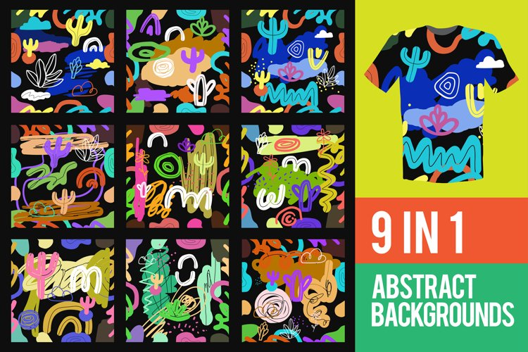 9 in 1 Abstract Backgrounds