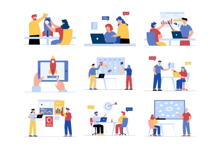 Startup Business Illustration Vol 1