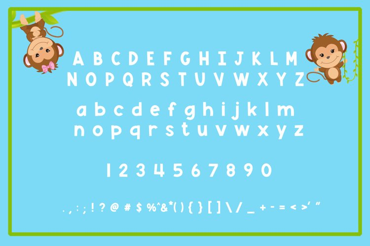 Monkey Mayhem - A fun and playful font example 4