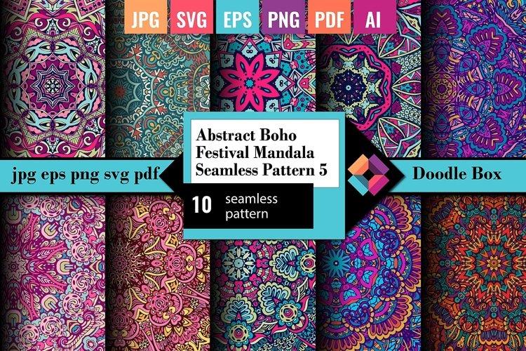 Abstract Boho Festival Mandala Seamless Pattern vol.5