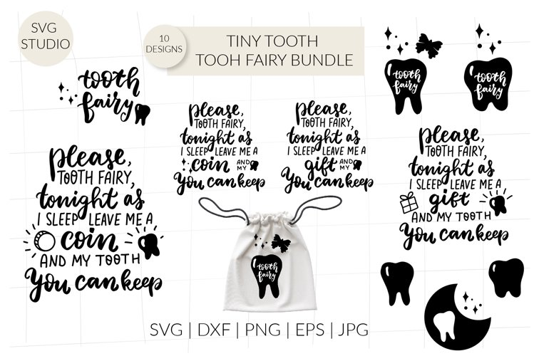 Tooth fairy svg, tiny tooth svg bundle, tooth fairy poem svg