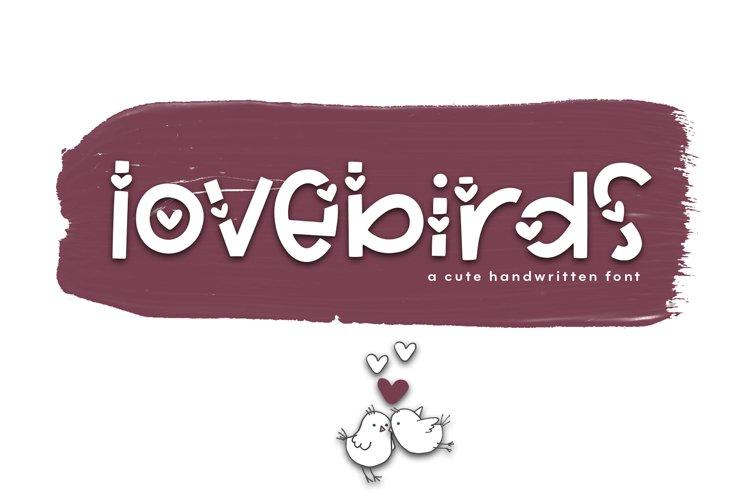 Lovebirds - A Cute Handwritten Font example image 1