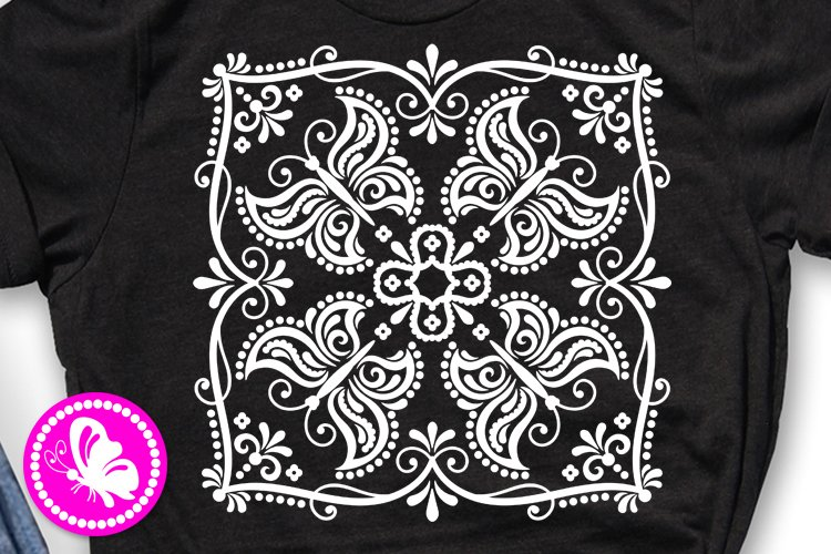 Square mandala Butterfly svg Wall art decor Cricut png eps example image 1