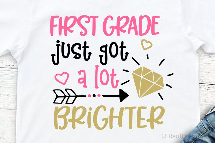 First Grade Just Got a Lot Brighter SVG, DXF, PNG, EPS Files example image 1