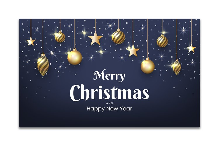 Christmas and New Year background design with gold glitter example image 1