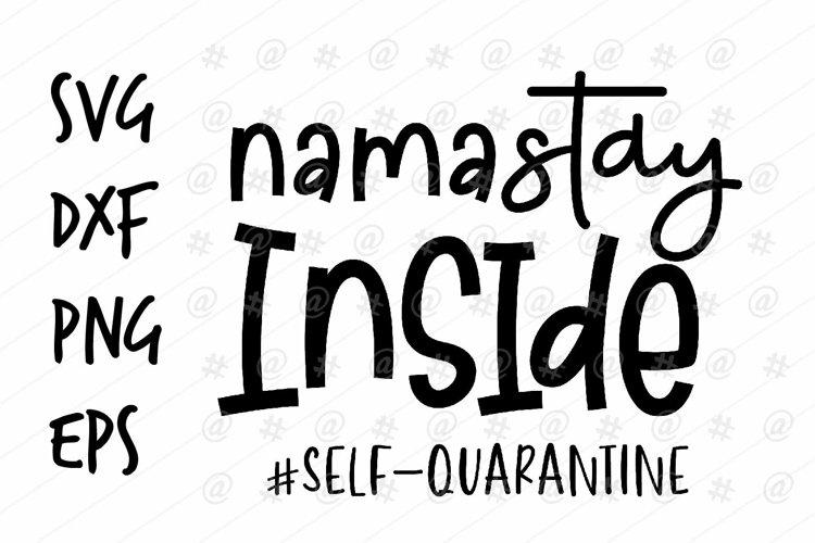 Namastay inside self quarantine SVG design example image 1