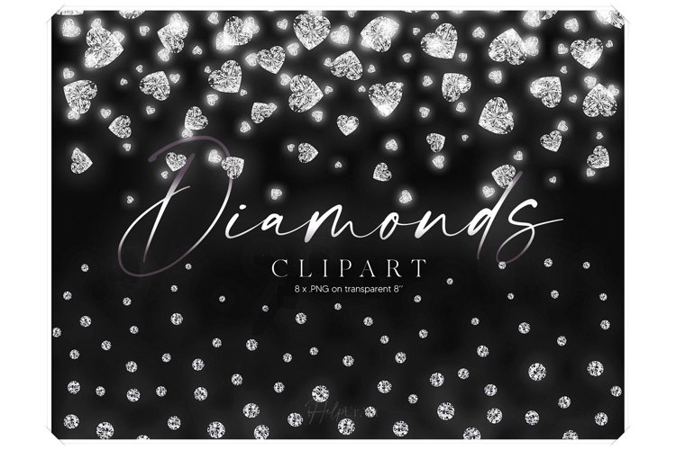 Realistic Diamonds Borders Clipart