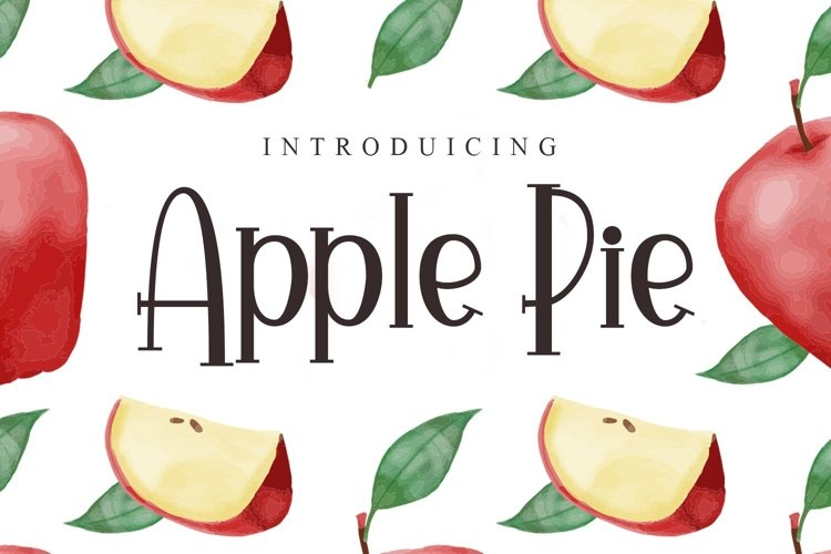 Web Font Apple Pie example image 1