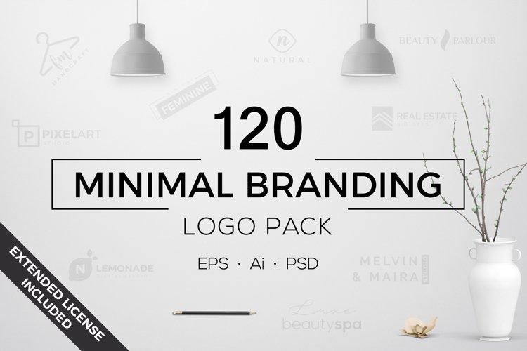 120 Minimal Branding Logo Pack example image 1