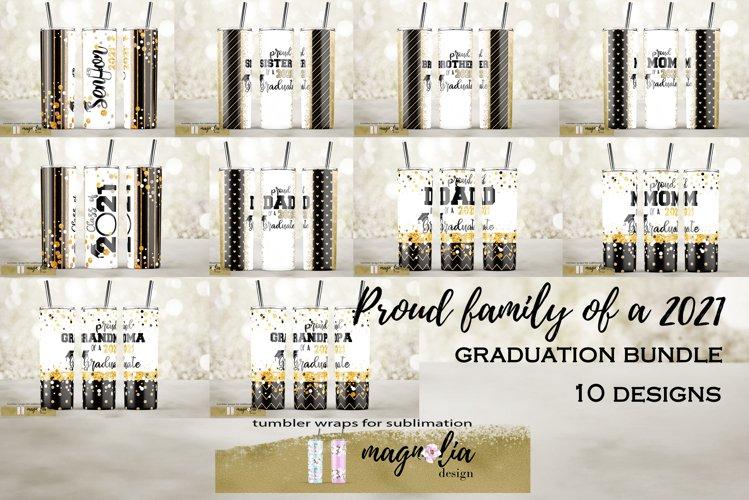Graduation tumbler sublimation bundle Proud family of a 2021 example image 1