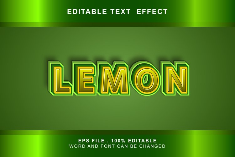 lemon Text Effects editable words and fonts can be replac example image 1