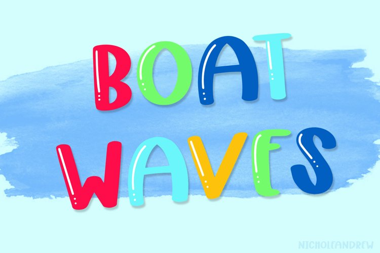 Boat Waves - A Shiny Handwritten All Caps Font