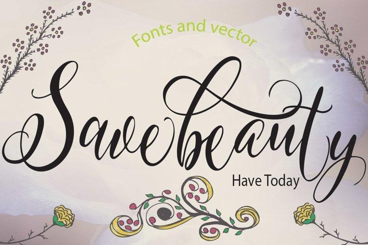 Web Font Savebeauty example image 1