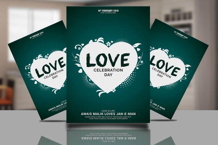Valentine Love Flyer example image 1