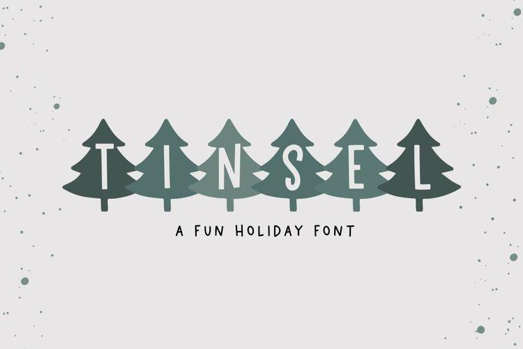 Web Font Tinsel - A Fun Holiday Font example image 1