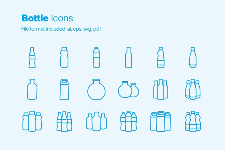 Bottle 18 Icons example