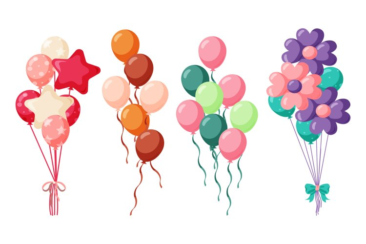 Birthday Balloons Illustrations