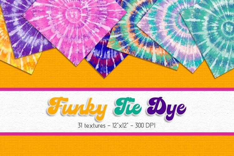 Tie Dye Digital Paper Set example image 1
