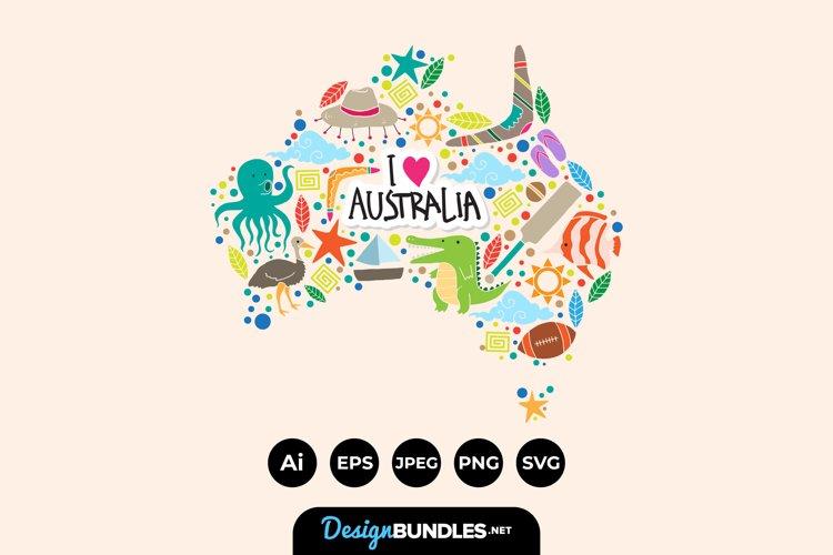 Australian Map Clipart example image 1