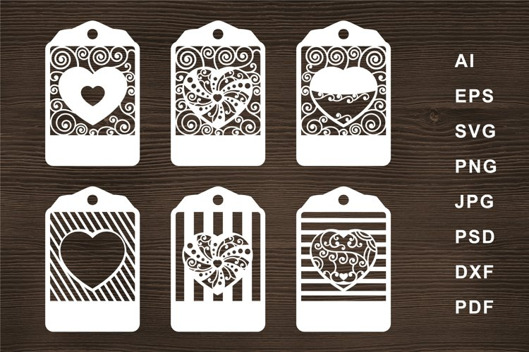 Heart label SVG Cut file for Crafters example image 1