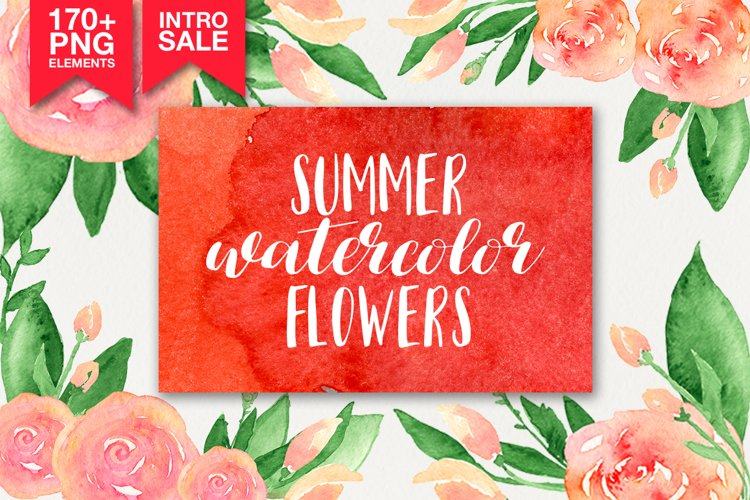 173 summer watercolor flowers example image 1