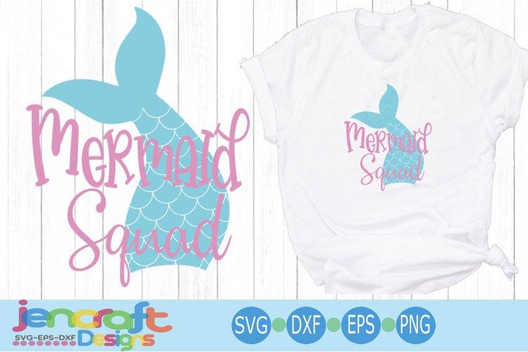Mer Maid SVG Mermaid Squad svg, Eps, Dxf, Png