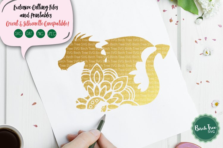 Dragon Mandala SVG Cut File, Dragon SVG, Dragon Cut File