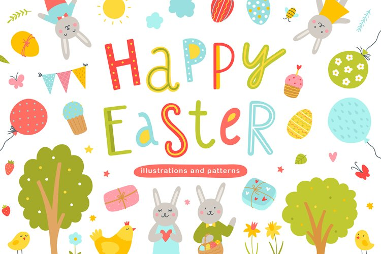 Happy Easter Illustrations