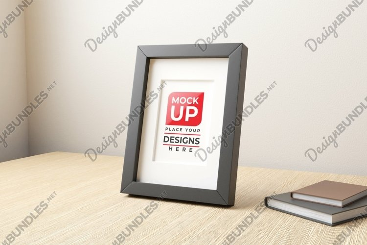 Small frame mockup on the table