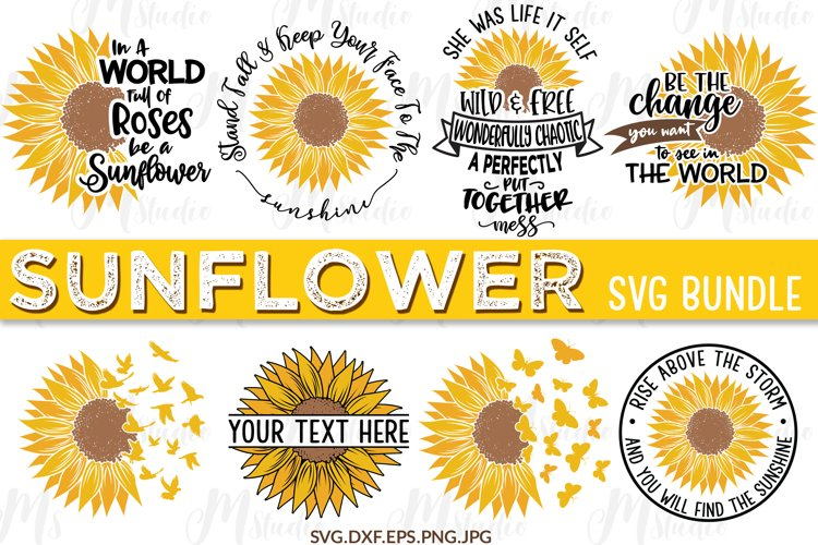 Sunflower SVG Bundle. example image 1