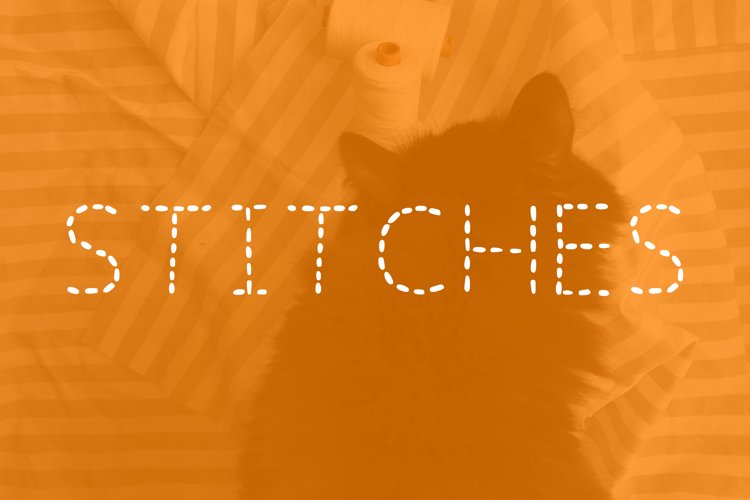 STITCHES FONT example image 1