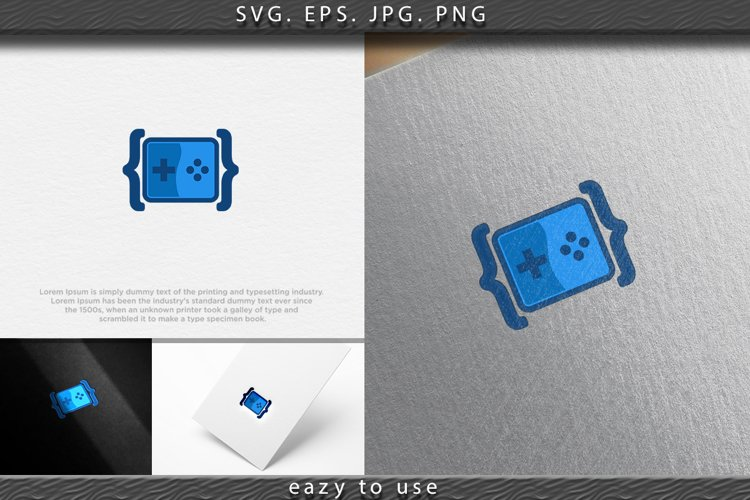Code Game Logo Designs Inspiration, Vector Illustration