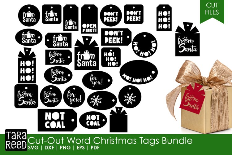 Christmas Gift Tags - Christmas SVG & Cut Files for Crafters example image 1