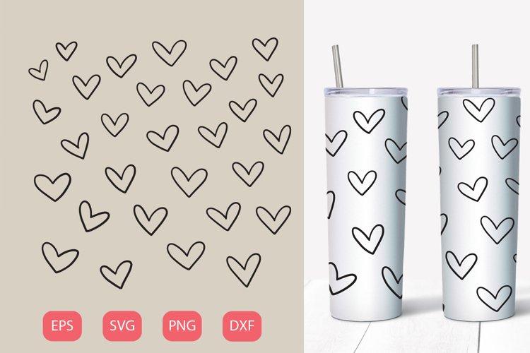 Heart 20 oz tumbler, SVG seamless