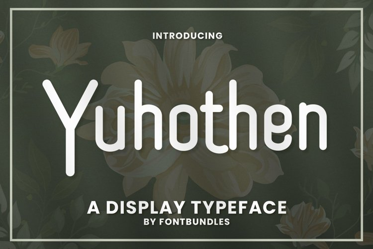 Web Font Yuhothen example image 1