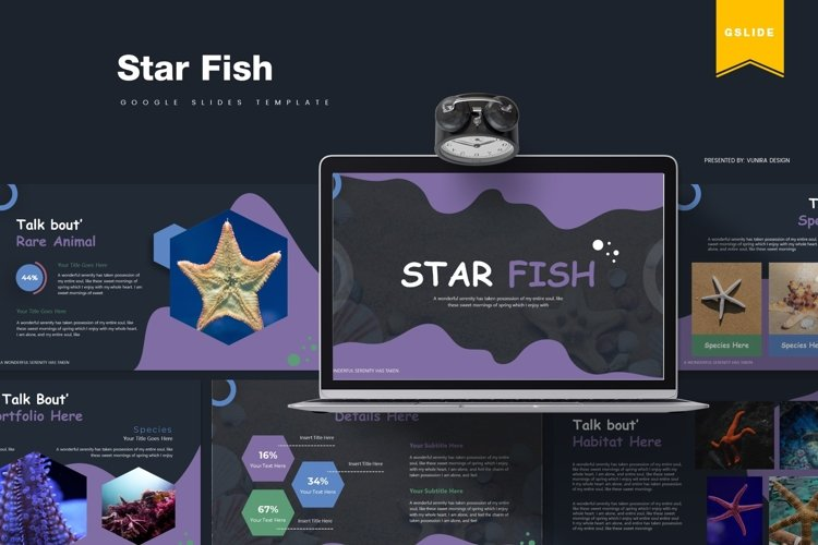 Star Fish | Powerpoint, Keynote, GoogleSlides Template example image 1