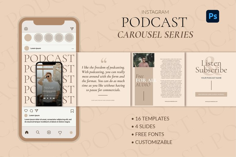 Podcast Instagram Carousel Templates