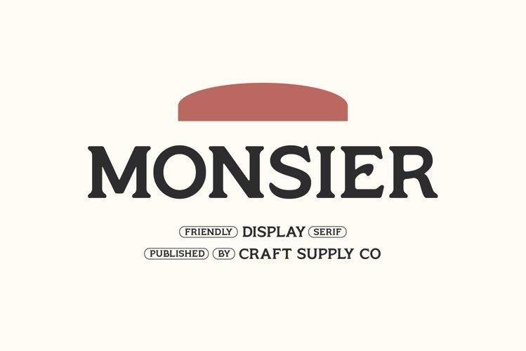 Monsier - Friendly Display Serif example image 1