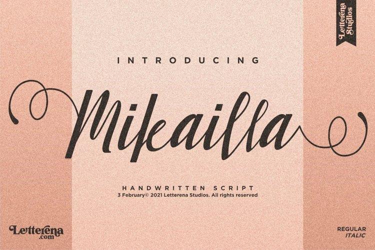 Mikailla - Beautiful Script Font example image 1